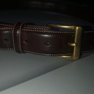 Brass Ralph Lauren Brown Belt